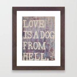 Dog From Hell Framed Art Print
