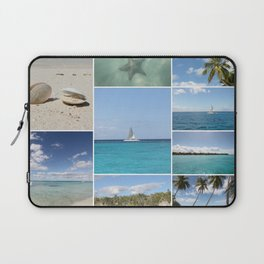 Scenic Caribbean Collage Laptop Sleeve