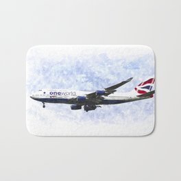 One World Boeing 747 Art Bath Mat