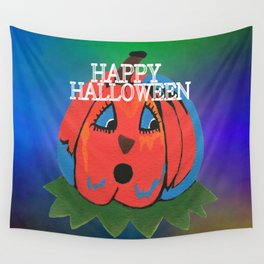 Halloween Pumpkin Wall Tapestry