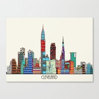 cleveland Canvas Prints featuring Cleveland city  by bri.buckley
