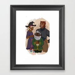 Tres Horny Bois Framed Art Print