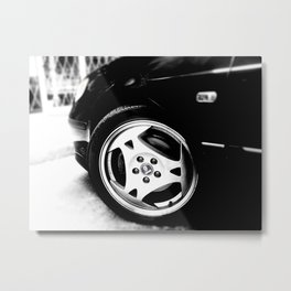 Aero Wheel, Saab 9-5 Metal Print