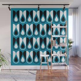 Geometric Pattern 126 (blue loop) Wall Mural
