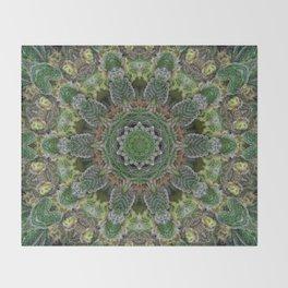 Green Queen Throw Blanket