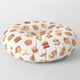 Salted caramel bear Floor Pillow