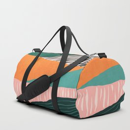 Modern irregular Stripes 02 Duffle Bag
