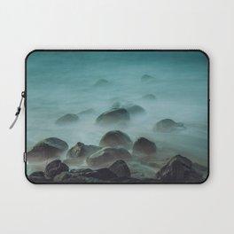 Ocean waves against the rocks Laptop Sleeve