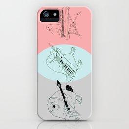 Keytar Platypus Venn Diagram Gray Blue Pink iPhone Case