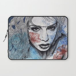 No Hope In Sight (tattoo girl with flowers) Laptop Sleeve