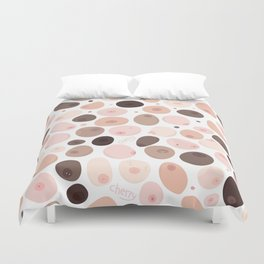Free the nipple Duvet Cover