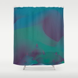 the 11 trees for x'mas this year Shower Curtain