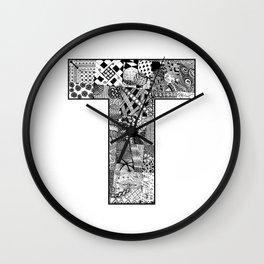Cutout Letter T Wall Clock