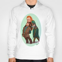 kili Hoodies featuring Tauriel and Kili by Hattie Hedgehog