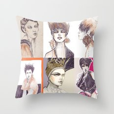 Fashion illustration composition Throw Pillow