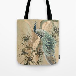 Peacock In The Pines Tote Bag