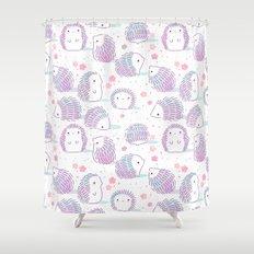 Spring Hedgehog Pattern Shower Curtain