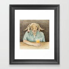 Goat Dad Framed Art Print