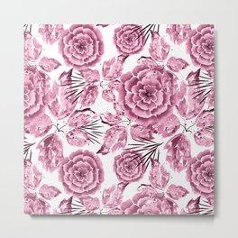 Dusty pink flowers. Metal Print