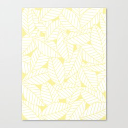 Leaves in Daisy Canvas Print