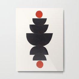 'Tonight' Paper Collage Minimalist Minimal Mid Century Pattern Shapes Funky Cool Arrangement by Ejaaz Haniff Metal Print