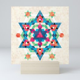 Bohemian Kilim Diamond – Abstract and decorative art for your living room Mini Art Print