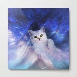 Galaxy Kitty Metal Print
