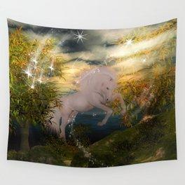 Einhorn im Wald Wall Tapestry