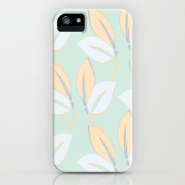 Classic leaves in green iPhone Case