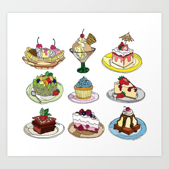 What you DESSERT is what you get! Art Print