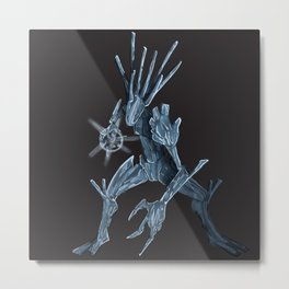 Ice Elemental Metal Print