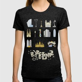 Barcelona with significant buildings T-shirt