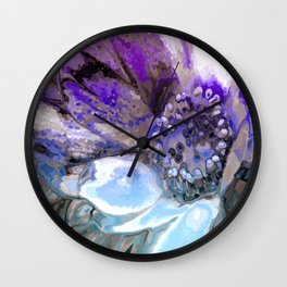 In Sunlight, Lilac and Blue Wall Clock
