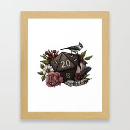 Druid Class D20 - Tabletop Gaming Dice Framed Art Print