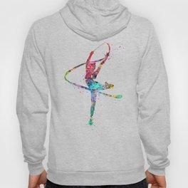 Rhythmic Gymnastics Print Sports Print Watercolor Print Hoody