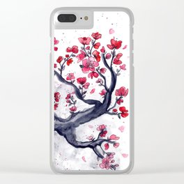Japanese Plum (ume) Watercolour Clear iPhone Case