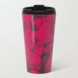 Pink Pebble Scene Travel Mug