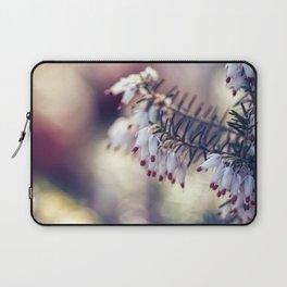 White Heather Calluna Flower Laptop Sleeve