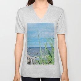 Through Grass and Driftwood Unisex V-Neck