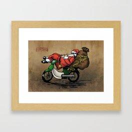 Xe Om Santa Framed Art Print