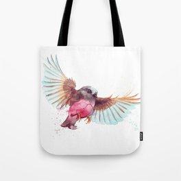 Pink Robin Bird Tote Bag