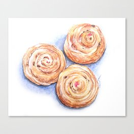 Cinnamon Rolls On Me Canvas Print