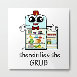 therein lies the GRUB  Metal Print