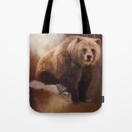 Great Strength - Grizzly Bear Art by Jordan Blackstone Tote Bag