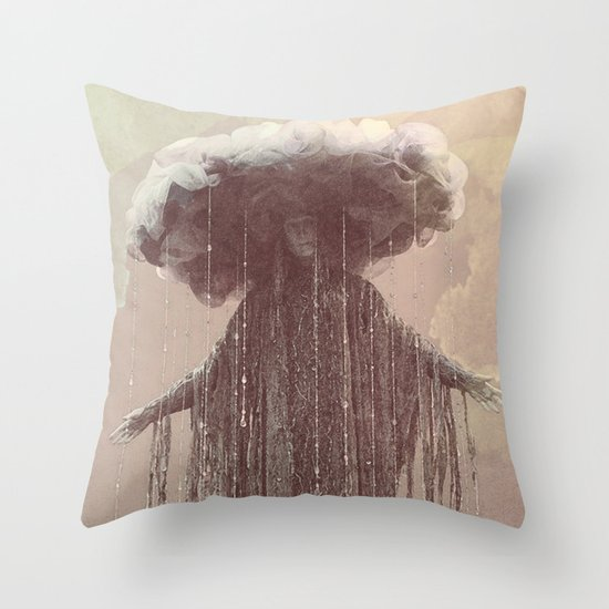 storm lady Throw Pillow