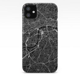 London Black Map iPhone Case
