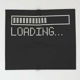 Loading Time Bar Throw Blanket