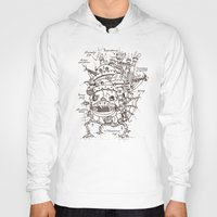 Hoodies featuring Howl's Moving Castle Plan by le.duc