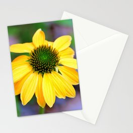 Yellow And Lime Coneflower Stationery Cards