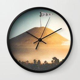 Explore-Indonesian Volcano Wall Clock